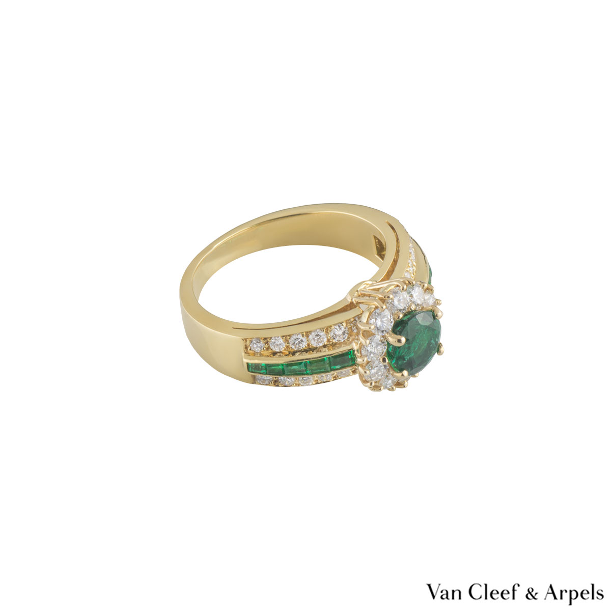 Van Cleef & Arpels Yellow Gold Emerald and Diamond Ring